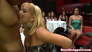CFNN party babes gone crazy for stripper cock